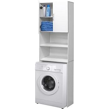 Mobili Arredo Bagno Con Lavatrice.Ecd Germany Mobile Per Lavatrice Mobiletto Bagno 62 5 X 25 X 190