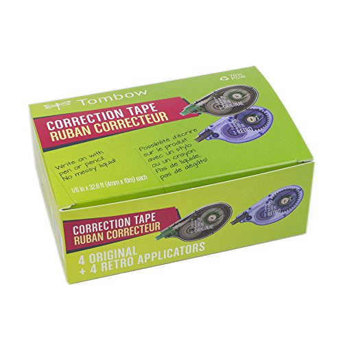 Tombow MONO Correction Tape, Costco 8-Pack. Easy To Use Applicators for Instant Corrections