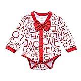 AMhomely pronnotion venta bebé niños niñas día de San Valentín amor mameluco arco mono 2 piezas conjuntos