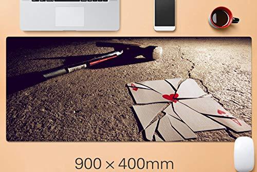 alfombrilla de ratón teclado Corazón roto Una tarjeta de gran tamaño Gaming Mouse Pad xxl Teclado Pad Alfombrilla de escritorio Antideslizante Impermeable Suave