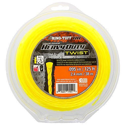 """Rino Tuff 17051 .095"""" x 125' Universal Heavy Duty Twisted Trimmer Line for Residential Trimming and Edging"""