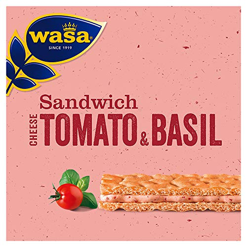 Wasa Sandwich Käse, Tomate & Basilikum Multipack, 8er Pack (8 x 120g)