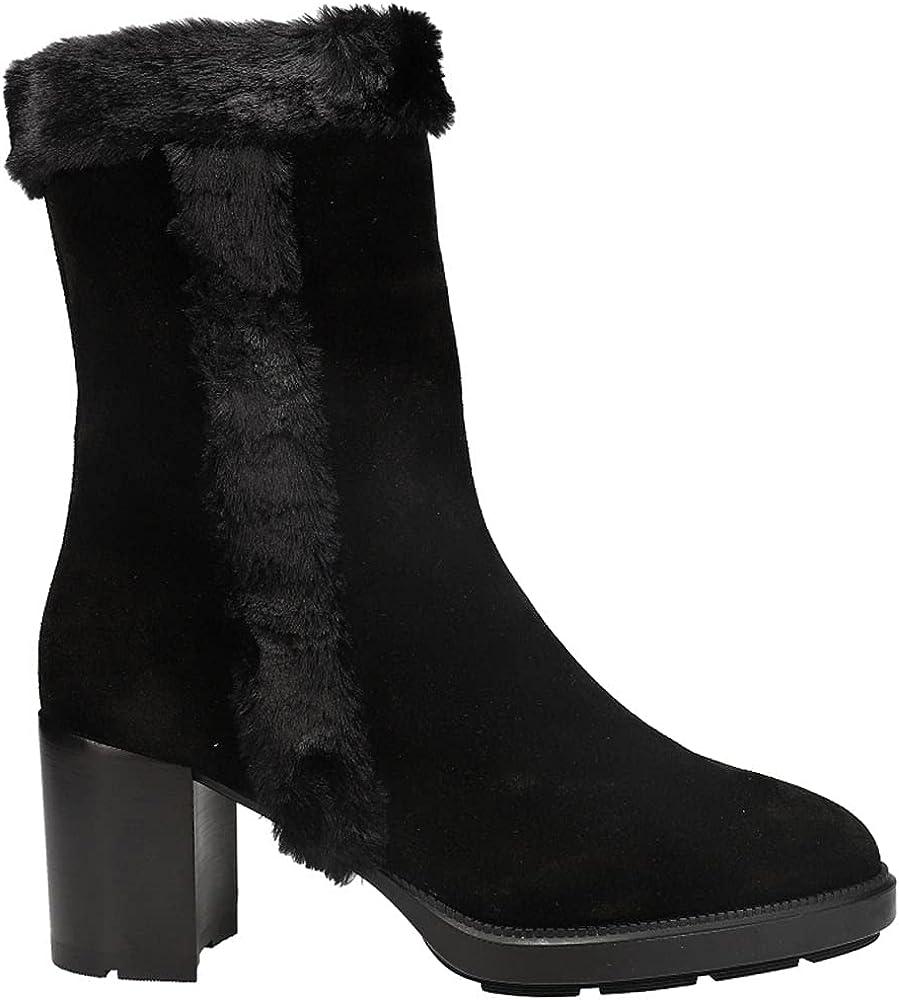 AQUATALIA Womens Ilianna SuedeFaux Fur Zippered Boots Mid Calf Mid Heel 2-3