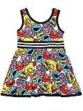 Sesame Street Elmo Toddler Girls Fit and Flare Ultra Soft Dress (4T. Sesame Toddler)