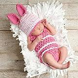 Pywee Traje de Foto de bebé recién Nacido Crochet Knit Beanie Body Trajes...