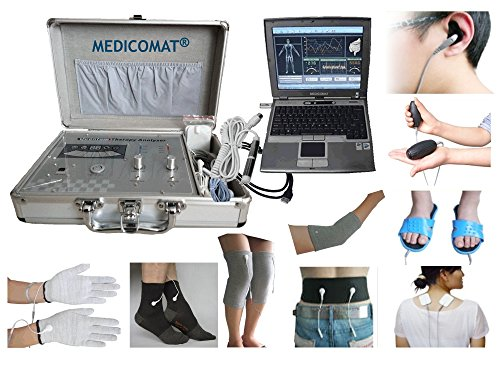 Medicomat29 + G Lichaamsdetectiefunctie en krachtig therapy-programma voor de gezondheid en het lichaam geleidende massage riem handschoenen sokken knieelleboog armbeen-hulzen elektroden