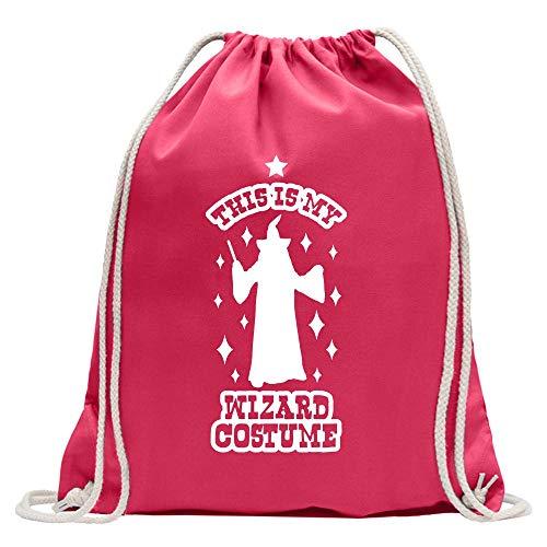 Kiwistar This is My Wizard Costume - Mochila de deporte, de algodón, con correa, rosa, Talla única