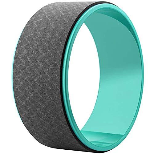 VLFit Yoga Rad - Hilft Ihre Flexibilität zu Verbessern und Stärke - bietet Eine Komfortable Unterstützung für Yoga-Haltungen und Backbends - Enthält Position Flugblatt