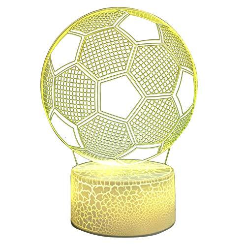 3D Lampe Nachtlicht 16 Farben Mit Fernbedienung 1PC Crack 16 Farben Fernbedienung Basisdurchmesser 87mm Fußball Vision 3D Licht hohe Qualität