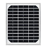 BeiLan ソーラーパネル5W 単結晶 太陽光パネル 太陽光発電 太陽電池モジュール ソーラーアレイ 蓄電/キャンピングカー充電 災害対策 12V 蓄電/キャンピングカー充電 IP65防水 停電に適用