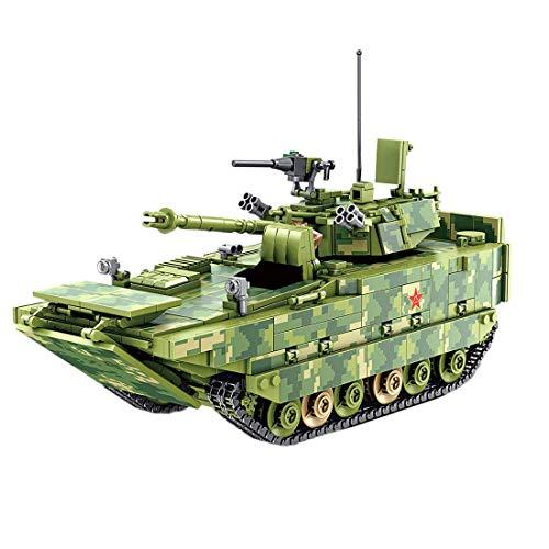 Modelo de tanque de bloque de construcción, ZBD-05 Conjunto de construcción de tanque militar de infantería anfibia, 1285 bloques