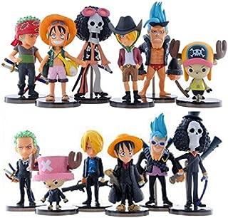 Romantic-Z Cute Mini One Piece Figura PVC Figuras de Acción brinquedos Colección Figuras Juguetes, 12 Piezas
