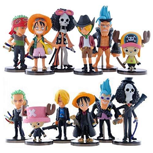 Romantic-Z Cute Mini One Piece Figura PVC Figuras de Acción brinquedo