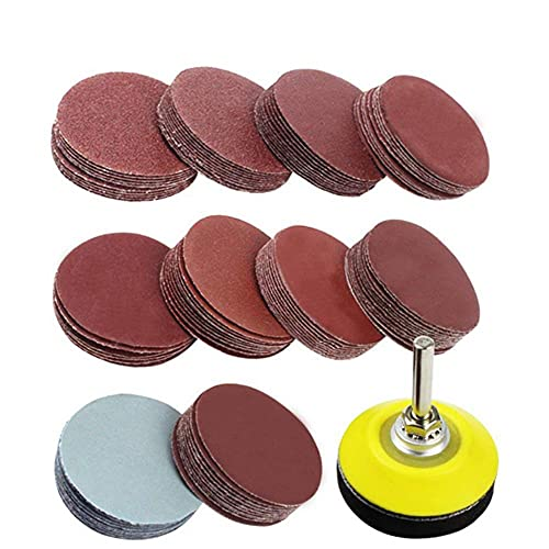 102pcs Sanding Discs Pad Kit Sanding Polishing Pad for Drill Grinder Rotary Tools Includes 80-3000 Grit Sandpapers 2' 50mm-United States,102pcs