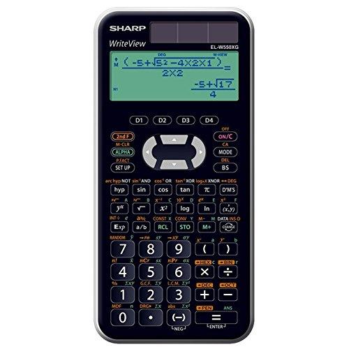 SHARP - SHARP Schulrechner EL-W550 XG, Solar- / Batteriebetrieb