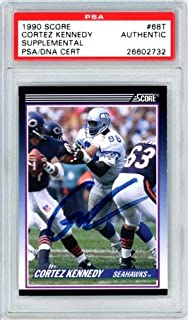 Cortez Kennedy Autographed 1990 Score Rookie Card #68T Seattle Seahawks PSA/DNA #26602732
