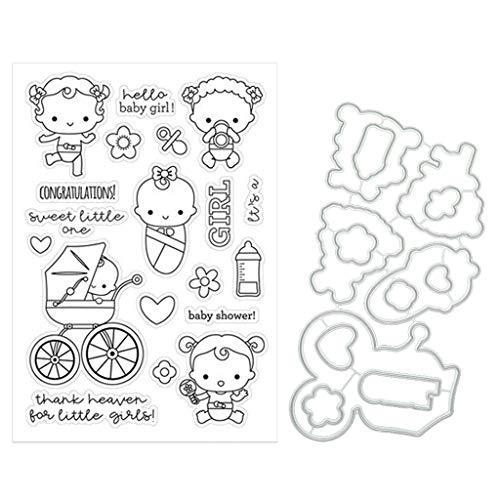 XIAOSHA Scrapbooking Baby Girl Dies Clear Stamp para DIY Scrapbooking Paper Card Embossing,let You Enjoy the Fun of DIY