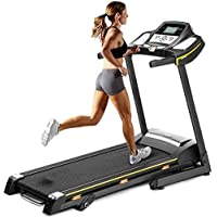 Booloveaitoo - Cinta de correr eléctrica plegable para el hogar, con pantalla LED de hasta 150 kg