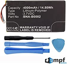 Replacement 4000mAh BNA-B0002, L83-4977-266-01-4 Battery for Barnes & Noble Nook HD 7, BNRV400, BNTV400 Tablet with Installation Tools