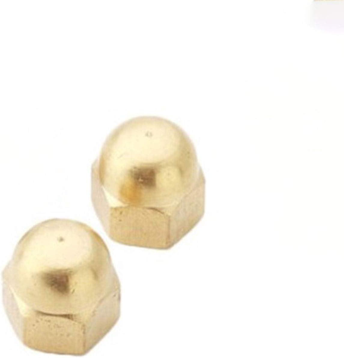 BEYTII 2-50pc Material De Lat/ón Tuercas M3 M4 M5 M6 M8 M10 M12 M16 Tapas De Lat/ón Tuercas Tuercas Accesorios De Hardware C/úpula Hex/ágono Nueces Size : M3 10pcs