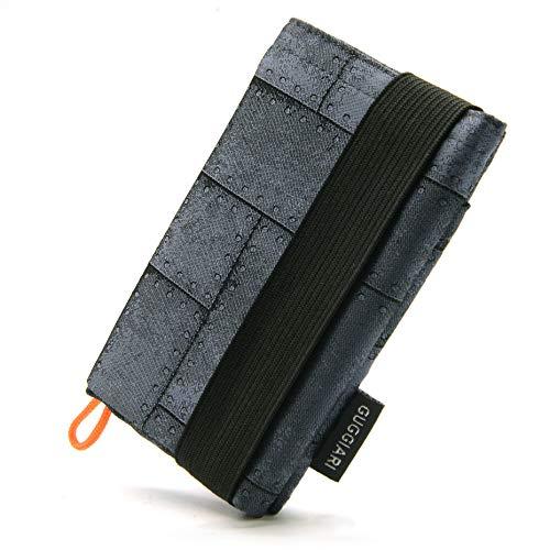 Mini Cartera para Hombre, Ligera y Compacta Que Tiene un Sistema de Seguridad RFID- Billetes, Documentos, Tarjetas de crédito y Llaves estarán Seguras en la Cartera Antirrobo. (Iron - Metal Plates)