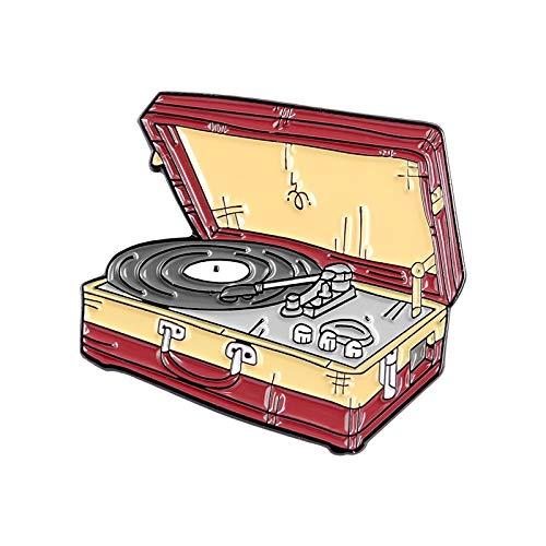 JWGD - Pines de esmalte para máquina de escribir, diseño vintage de Gashapon, broches de piano, bola de cristal, mochila, sombrero de solapa, joyería clásica (tamaño: estilo 10)