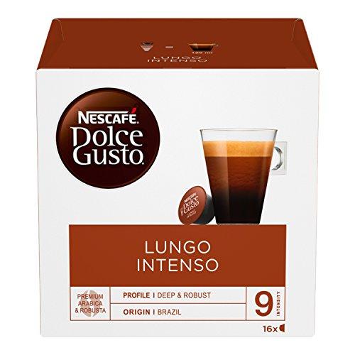 NESCAFÉ DOLCE GUSTO LUNGO INTENSO Caffè lungo 3 confezioni da 16 capsule [48 capsule]