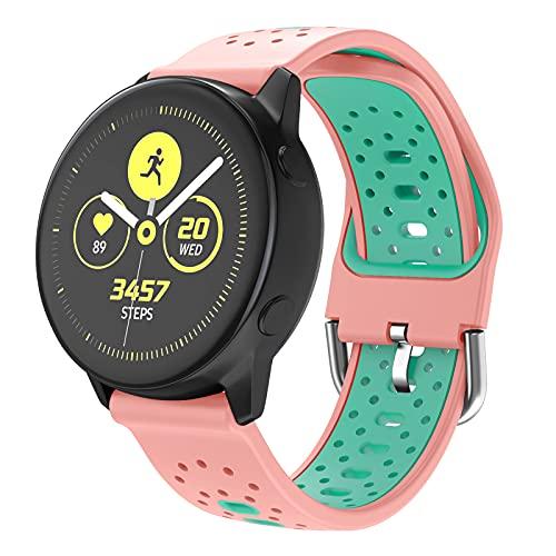ISABAKE Correa de Reloj para Galaxy Watch 42mm/Vivoactive 3/Galaxy Active 2/Forerunner 245/Vivomove HR/Forerunner 645/Forerunner 645