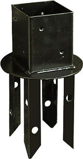 ラティス・フェンス用の支柱[72-74mm角]に対応 ロータイプ/短いポール専用 土中埋め込み用ポール固定金具 ミニ UB-N72MINI