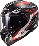 Casco de Moto LS2 FF327 Challenger GP Negro Rojo, Negro y Rojo, XS