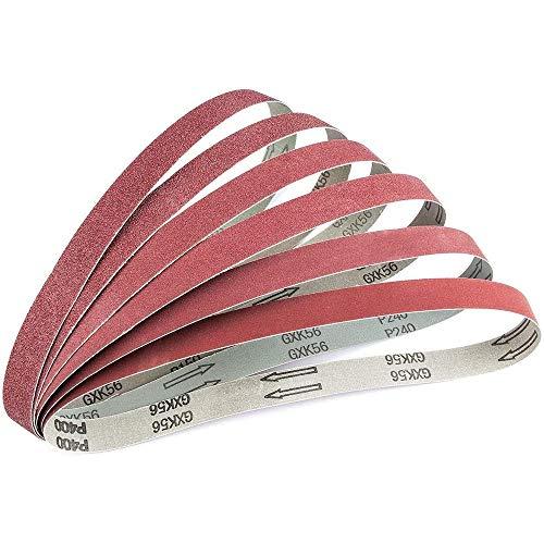 Andifany 24 PCS 1X 30 Inch Aluminum Oxide Sanding Belts Assorted Sandpaper Sander Belt for Belt Sander