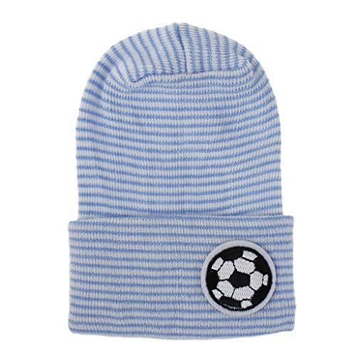 chenpaif Baby Cap,Newborn Winter Warm Baby Cap Unisex Infant Boy Girls Cap Baby Hospital Hat Bonnet Blue and White Cap Football