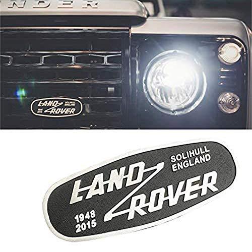 XCBW Logo Emblem für Frontgrill Metallbuchstaben Abzeichen Aufkleber für Land Rover Defender 2015 Fahrzeugmodifikation