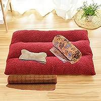 [Aardman]ペットマット 70cm 毛布+骨枕 ペット用 肌触りよい 柔らかい 防寒 寒さ対策 ペットソファー ペットクッション ペットベッド