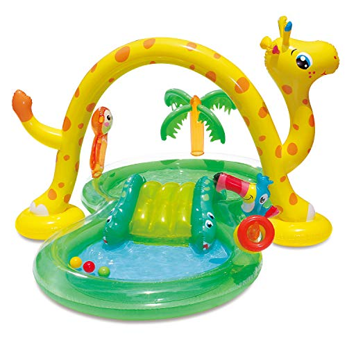 """Summer Waves Jungle Play Center with Sprayer and Toss Rings, 101""""x75""""x50"""" -  Polygroup Trading, KA0047000"""
