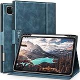 Antbox iPad Pro 11 ケース 2020 iPad Pro 11(第2世代)専用 Apple Pencil 2 収納/ペアリングとワイヤレス充電対応 ひび割れ防止 高級感ソフトPUレザー製iPad Pro 11 2020カバー オートスリープ&スタンド機能付き (ダークブルー)