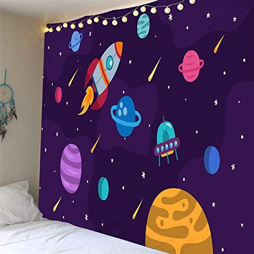 MTCDBD Tapestry,Anime Decoración De Dibujos Animados Tapiz para Colgar En La Pared, Universo, Tutorial, Decoración para Colgar En La Pared, para Arte De Pared, Colcha, Funda De Sofá, Dormitorio,