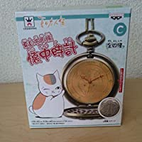 夏目友人帳 ニャンコ先生 文字盤ゴールド 懐中時計