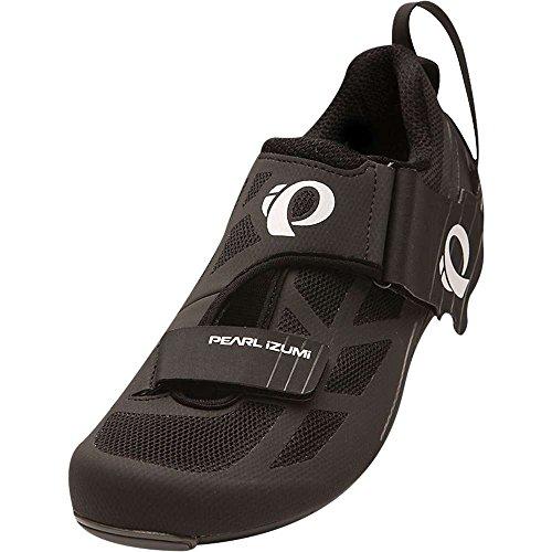 Pearl iZUMi Men's TRI Fly Select V6 Cycling Shoe, Black/Shadow Grey, 45 EU/10.8 D US