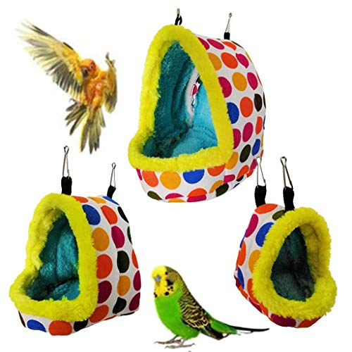 Goodtrade8 Clearance Pet Sleeping Nest Winter Warm Bird Tent Bed House Safety Pet Bird Cage Bed Cave for Parakeet Hamster Squirrel Best Pet Supplies (S, Multicolor)