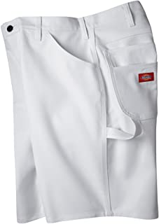 Dickies Industrial Wear DX400 36W by 10L Relaxed Fit Cotton Utility Short Painters Pants, White