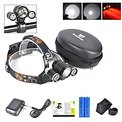 Best CREE LED Headlamp Flash Light - Waterproof Super Bright Head Flashlight Adjustable for Camping Reading Hiking Running Fishing Hunting Cycling - Brightest Focused Work Lamp Headlight