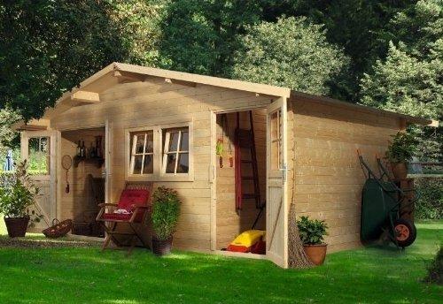 Unbekannt Woodfeeling Gartenhaus Radur 2 28 mm 2-Raum-Haus