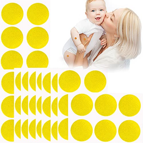 Mosquito Patches Stickers for Kids, Mosquito Insect Natural Stickers, Insect Patches Stickers with Citronella Oil, Summer Home Travel Mosquito Repellent Patch (Yellow)