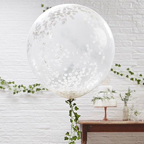 Ginger Ray Confetti, gevuld, doorzichtige ballonnen, feestdecoratie, mooie botaniek, 91,4 cm, 3 stuks