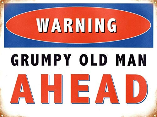 None Brand Grumpy Old Man Ahead Retro wall decor Metal Tin Sign Painted Art Poster Decoration Plaque Warning Cafe garage party Game Room Door Signs
