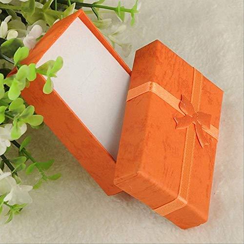 Geschenkdoos BLTLYX Mode Kleurrijk Nieuw 4x4x3cm / 8x5x2.5cm / 9x7x3cm Organizer Box Ringen Opslag Leuke doos Kleine geschenkdoos voor ringen Oorbellen 8x5x2.5cm Oranje