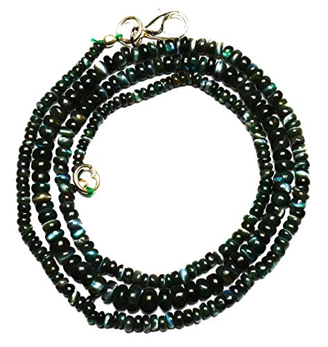 24 inch long rondelle shape smooth cut natural alexandrite chrysoberyl 3-4 mm beads necklace with 925 sterling silver clasp for women, girls unisex