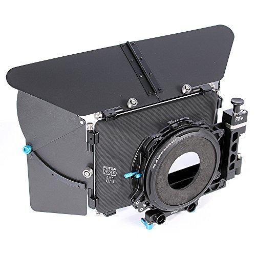 Fotga DP500III 4x4 DSLR Swing-Away Matte Box w/ Donuts for 15mm Rail Rod System for Sony A7 A7R A7S II III A9 A6300 A6500 GH5/5S Canon 5D 6D 7D II III IV D850 BMPCC 4K 6K DSLR Video Cinema Camera