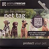 AnimalRescue.com Q-Tag QR Code Pet ID Tag for Dogs & Cats GPS Enabled - Digital Pet ID System